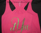 Monogrammed Flare Tank