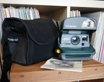 Working Polaroid Onestep Express Camera with Camera Bag & Instructions