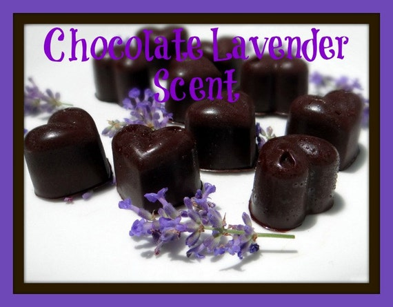 CHOCOLATE LAVENDER Scented Soy Wax Melts - Soy Candle Wax Tarts ...