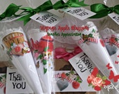 RESERVED for KATHY GILL Paper Cones & Gift Boxes Assorted, Vintage Apple Blossom, Teacher Appreciation, Whimsical