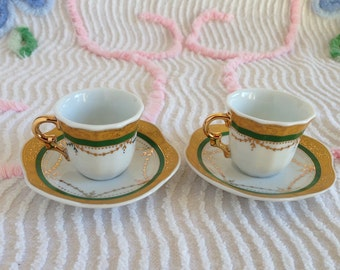 Small Vintage Cup & Saucer Demitasse Child's Doll Tea Cup