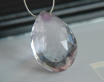 Pink Amethyst Faceted Pear Briollette