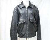 50% Off Sale 50s Black Horsehide Jacket Mens size Large Xlarge 44 Horse Hide Leather Jacket