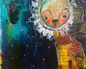 It Took Courage - an Original Mixed Media Painting on Paper by Juliette Crane