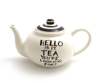 Hello is it tea you're looking for - large teapot holds 4 cups - scroll through pictures for other designs
