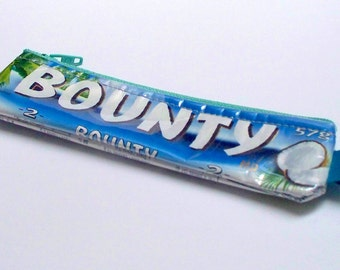 Coin Purse - UPCYCLED Bounty candy bar wrapper recycled into a SWEET usable coin purse