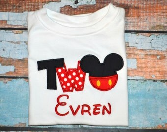 I'm twodles Mickey Mouse, Boys birthday Shirt, 2nd birthday shirt, Two