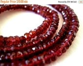 35% OFF Mozambique Garnet faceted rondelle- 3mm- 6.5 inch