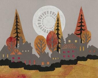 Autumn's Colorful Shroud - ORIGINAL Paper Cutting