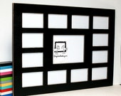 Picture frame Collage, school frame,8x10 & 12) 4x6,first year frame,13 opening K-12, multi photo frame, multiple window frame