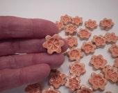 Tiny Mosaic flower Tiles-Tangerine flower tiles