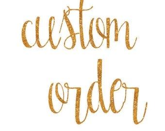 Custom Listing for Allessandra