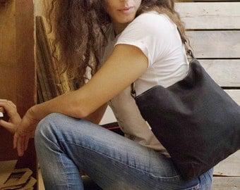 black canvas purse, shoulder purse, small purse, vegan purse, purse handbag, black evening bag, evening purse, womens handbags