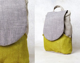 grey backpack vegan leather backpack canvas backpack purse