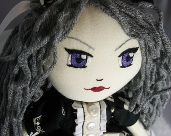 Gothic Lolita Granny Hair Soft Doll