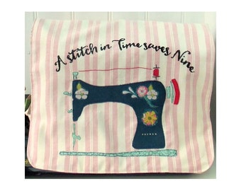 Stitch in Time Sewing Machine Cover pdf pattern instant download