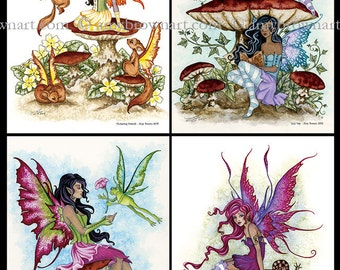 Fairy mini-print set 6x9 fantasy art