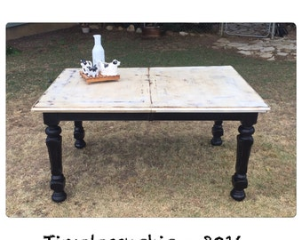 Farmhouse Table - Rustic Table - Dining Table - Wood Table - Painted Table - Kirchen Table - Farmhouse Decor - Chic