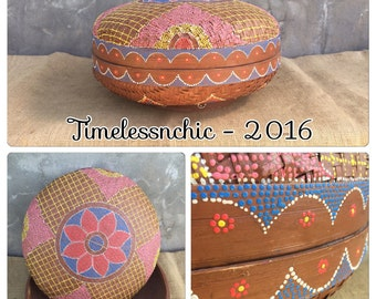 Woven Basket - Native American Decor - Decorative Basket - Southwestern Decor - Fiber Arts - Bohemian Decor - Chic
