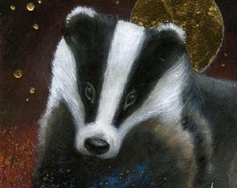 SALE!!   Limited edition giclee of The Badger by Amanda Clark.