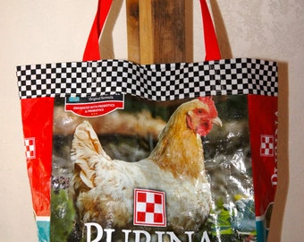 Chicken Feed Sack Utility/Shopping Bag