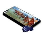 Jockeys in the Rain by Edgar Degas - Case for iPod Touch