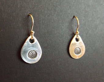 Volleyball earrings, Volleyball dangle earrings, Volleyball Mom gift, I love volleyball, Volleyball player gift, Volleyball coach gift