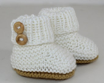 madmonkeyknits - Baby Unisex Booties knitting pattern pdf download - Instant Digital File pdf knitting pattern