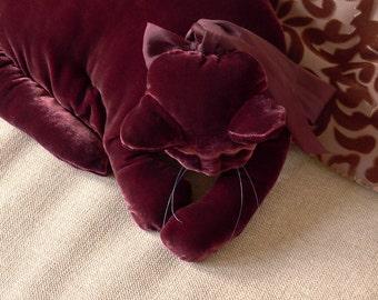 A Burgundy Red Velvet Cat