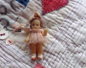 Vintage Miniature Doll
