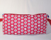 SPECIAL PRICE - Sheep in Hats on Red Anna Clutch - Premium Fabric