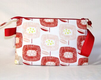 Block Blooms in Red Tall Mia Bag