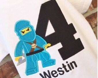 Ninjago  Birthday shirt, Ninjago Birthday, Toddler Ninjago Tee