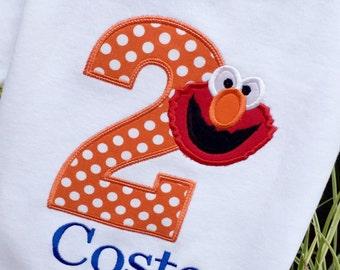 Boys Birthday Elmo,Elmo birthday,Boys Elmo Shirt,Personalized Elmo Shirt, Sesame Street Birthday