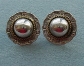 Taxco Vintage Sterling Pierced Earrings