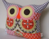 PATCHWORK  owl pillow/thanksgiving /gift / owl pillow/ room decor/for her /Large size /Ready to ship