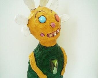 Primitive Folk Art Daisy Outsider Art Doll OOAK