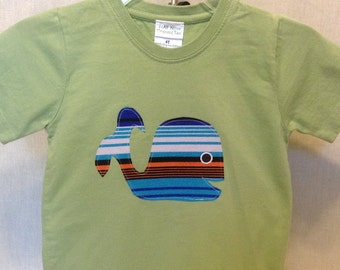 Organic cotton toddler t-shirt designed with a Whale