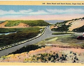 Vintage Cape Cod Postcard - Sand Dunes (Unused)