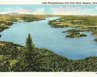 Vintage Vermont Postcard - Lake Memphremagog (Unused)