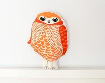 Owl Pillow - Throw Pillow, Decorative Pillow, Baby Pillow, Nursery Pillow, Stuffed Animal