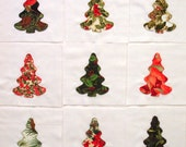 Christmas Trees Appliqued Quilt Blocks