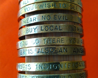 brass affirmation bangle