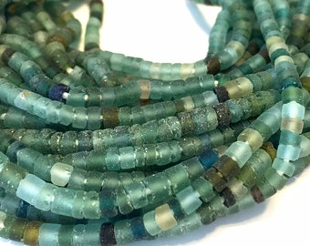 Ancient roman glass beads little heishi spacers
