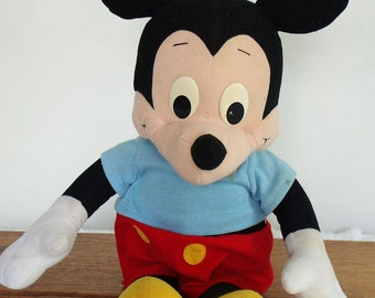 Mickey Mouse, Talking Mickey, vintage pull string mickey mouse, 1988 Playskool pull string talking Mickey Mouse, Walt Disney mickey mouse