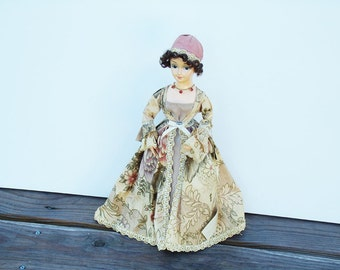 Collectible Doll, Presidents' Wives Doll Collectibles, vintage collector's doll, Elizabeth Monroe collector doll, Brinn's Doll figurines