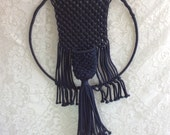 Vintage Navy Blue Wall Hanging