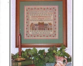 Margaret & Margaret Counted Cross Stitch Pattern Booklet, Dickens' Village Sampler, Coded Chart, 175Wx175H, Shops, Alphabet, Wreaths
