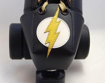 Leather Toe Guards with Flash Gordon Logo