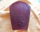 Jedi logo accessories, leather cuff, armor